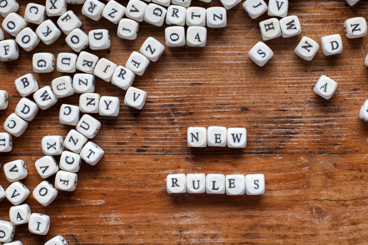 This concept contains new rules spelled out in Scrabble pieces showing how life will be once you are divorced with the help of a Chicago divorce attorney.