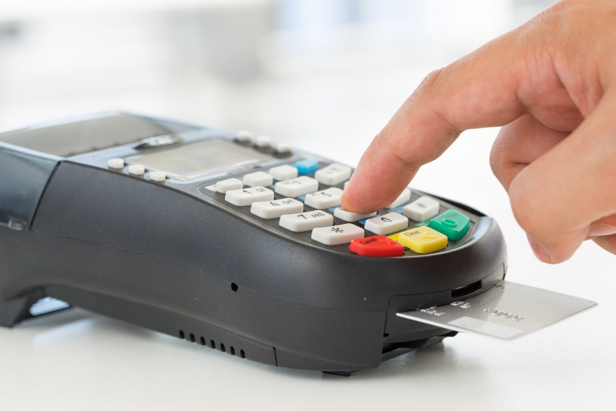 This is a Chicago divorce attorney processing credit card payment for legal representation during a Chicago divorce.