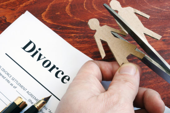Divorce agreement concept for when needing a good divorce lawyer near me.