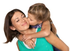 mother with her daughter that is looking for a top rated custody lawyer in Chicago.