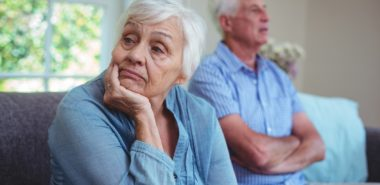 senior couple thinking of divorcing and in need of a reliable long-term marriage divorce lawyer in Chicago.