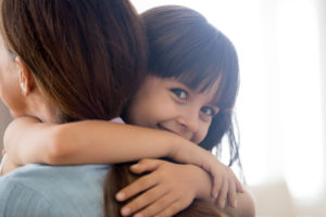 little girl happy spending time with her mother, for child custody case contact our reliable divorce attorneys in Cook County.