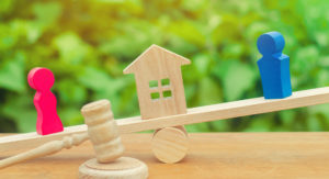 Division of property concept representing how our family law attorneys can help you with property division