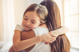 mother and daughter representing how you can contact our Bolingbrook child custody lawyers for assistance