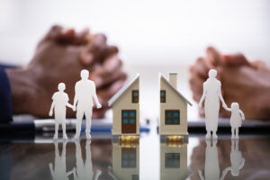 Couple divorcing with splitting household concept, arrange for a consultation with our Cook County Divorce Attorneys.