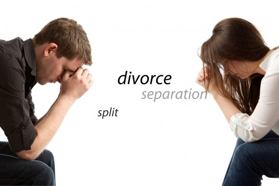 A man and woman contemplating separation and needing guidance with Divorce Lawyers Glenview.